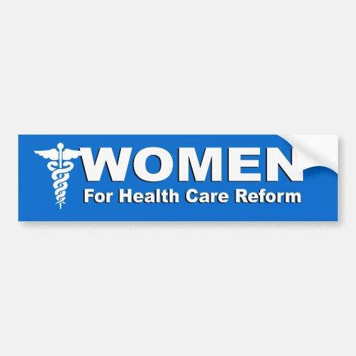 Mujeres para la reforma de la atención sanitaria pegatina de parachoque