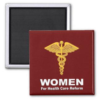 Mujeres para la reforma de la atención sanitaria imán cuadrado