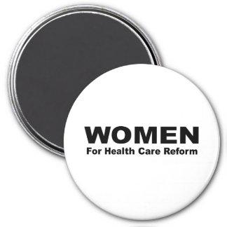 Mujeres para la reforma de la atención sanitaria imán redondo 7 cm