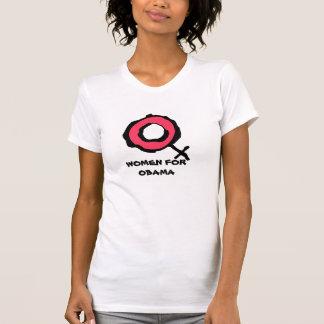 Mujeres para las camisetas de la campaña de Obama Remera