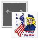 Mujeres para los botones del mitón pins