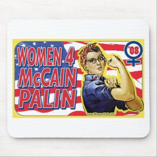 Mujeres para McCain Palin 2008 Alfombrilla De Ratones