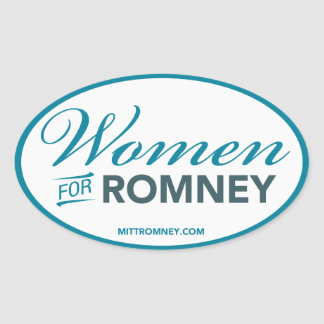 Mujeres para Mitt Romney 2012 (pegatina oval