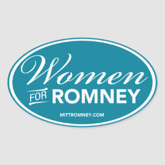 Mujeres para Mitt Romney 2012 (pegatina oval azul)