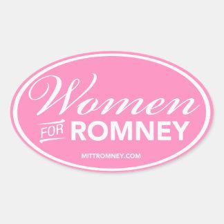 Mujeres para Mitt Romney 2012 (pegatina oval Pegatina Ovalada