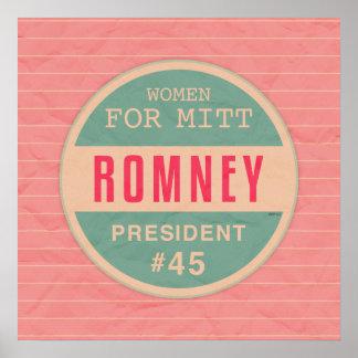 Mujeres para Mitt Romney Poster