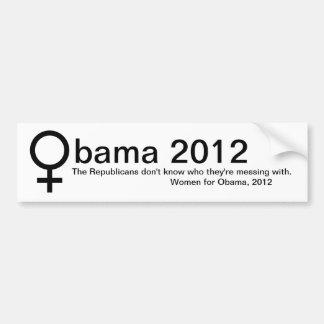 Mujeres para Obama Pegatina De Parachoque