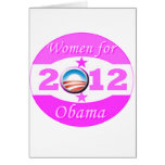 Mujeres para Obama Felicitación