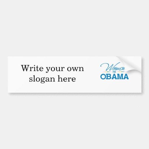 Mujeres para Obama Pegatina Para Auto