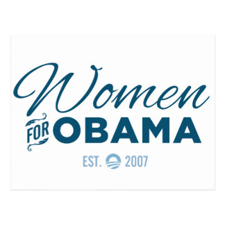 Mujeres para Obama Postales