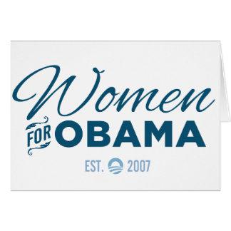Mujeres para Obama Tarjeta De Felicitación