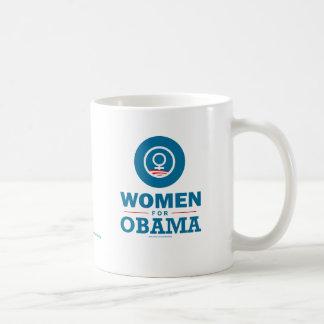 Mujeres para Obama Taza Básica Blanca