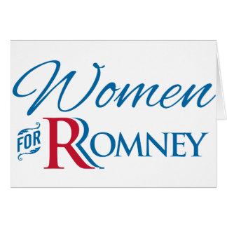 Mujeres para Romney Tarjeta De Felicitación