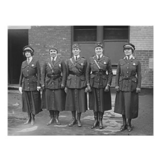 Mujeres policía póster