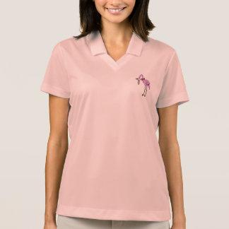 """Mujeres polo Shirt rosa """"flamenco """""""