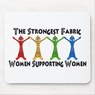 Mujeres que apoyan a mujeres alfombrilla de raton