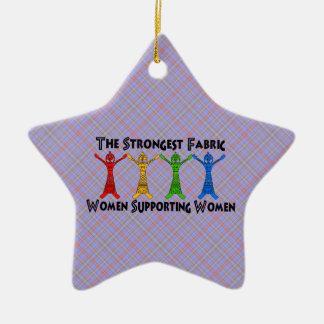 Mujeres que apoyan a mujeres adorno de cerámica en forma de estrella