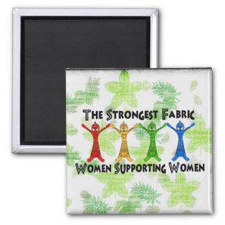 Mujeres que apoyan a mujeres imán cuadrado