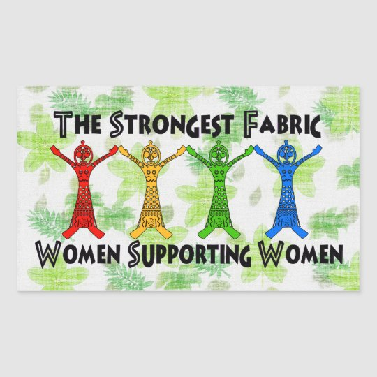 Mujeres que apoyan a mujeres pegatina rectangular