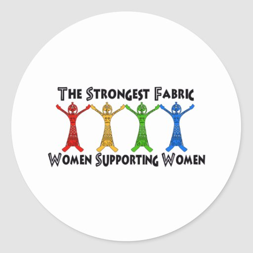 Mujeres que apoyan a mujeres pegatina redonda