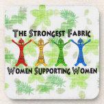 Mujeres que apoyan a mujeres posavaso