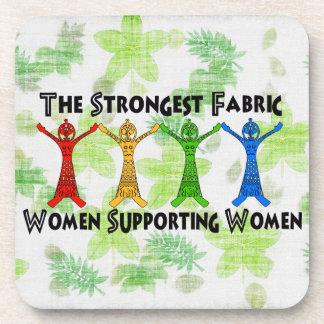 Mujeres que apoyan a mujeres posavasos de bebidas