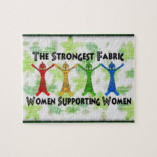 Mujeres que apoyan a mujeres rompecabeza con fotos