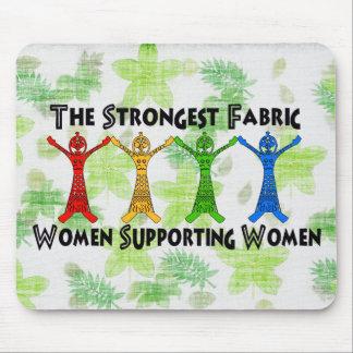 Mujeres que apoyan a mujeres alfombrillas de raton