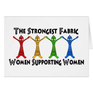 Mujeres que apoyan a mujeres tarjeta de felicitación