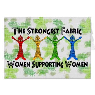 Mujeres que apoyan a mujeres tarjeta pequeña