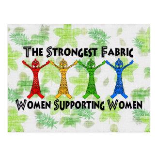 Mujeres que apoyan a mujeres tarjeta postal