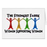 Mujeres que apoyan a mujeres tarjetas