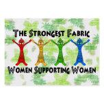 Mujeres que apoyan a mujeres tarjetas de visita