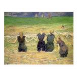 Mujeres que bañan Dieppe, Gauguin, impresionismo Postal