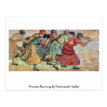 Mujeres que corren por Ferdinand Hodler Tarjetas Postales