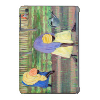 Mujeres que cultivan un huerto 2005 fundas de iPad mini