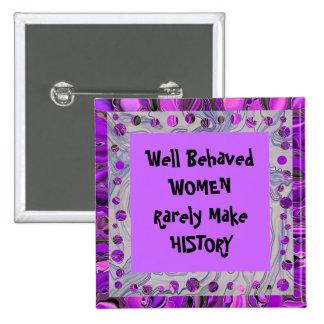 mujeres que hacen historia pin cuadrada 5 cm