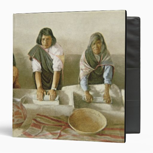 """Mujeres que muelen el maíz, pueblo de Laguna, Carpeta 1 1/2"""""""