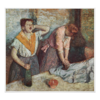 Mujeres que planchan, C. 1884-86, Edgar Degas Póster