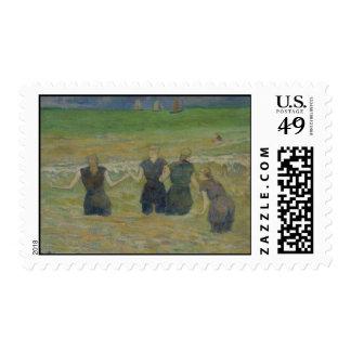Mujeres que se bañan por Paul Gauguin Franqueo