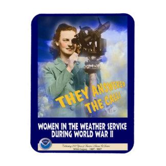 Mujeres que se unen al servicio WWII del tiempo Imanes