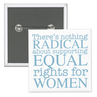 Mujeres radicales pin cuadrado