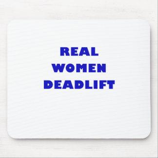 Mujeres reales Deadlift Alfombrillas De Ratón