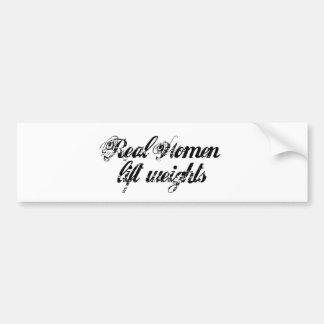 Mujeres reales pegatina para auto