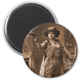 Mujeres retras Sideshow Elly De Sarto del vintage Imán Redondo 5 Cm