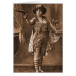 Mujeres retras Sideshow Elly De Sarto del vintage Felicitación