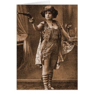 Mujeres retras Sideshow Elly De Sarto del vintage Tarjeta De Felicitación