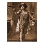 Mujeres retras Sideshow Elly De Sarto del vintage Tarjeta Postal
