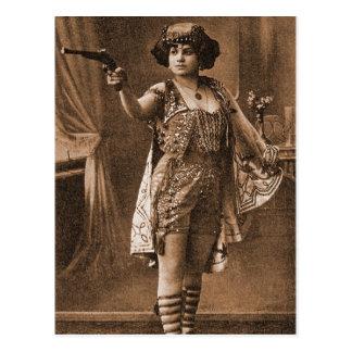 Mujeres retras Sideshow Elly De Sarto del vintage Tarjetas Postales