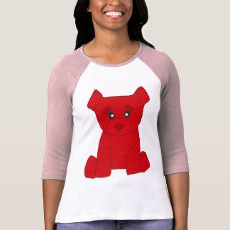 Mujeres rojas del oso 3/4 RaglanT-Camisa de la Playera